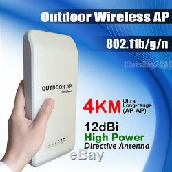 High Power Outdoor Wireless Network AP Access Points Client Bridg 802.11b/gn 11n
