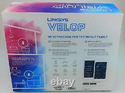 Linksys Velop WHW0302 2 Pack Tri-Band Mesh WiFi System White In Box Excellent